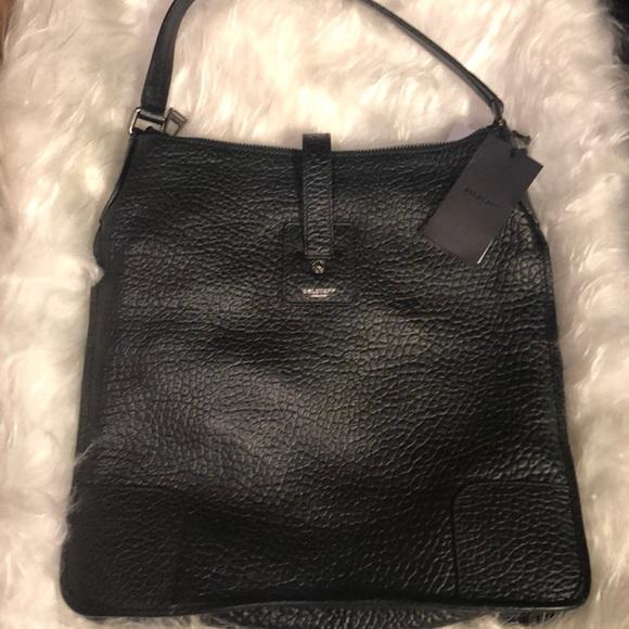 9313bbb933 Belstaff Bags | Nwt Black Pebbled Leather Holloway Bag | Poshmark